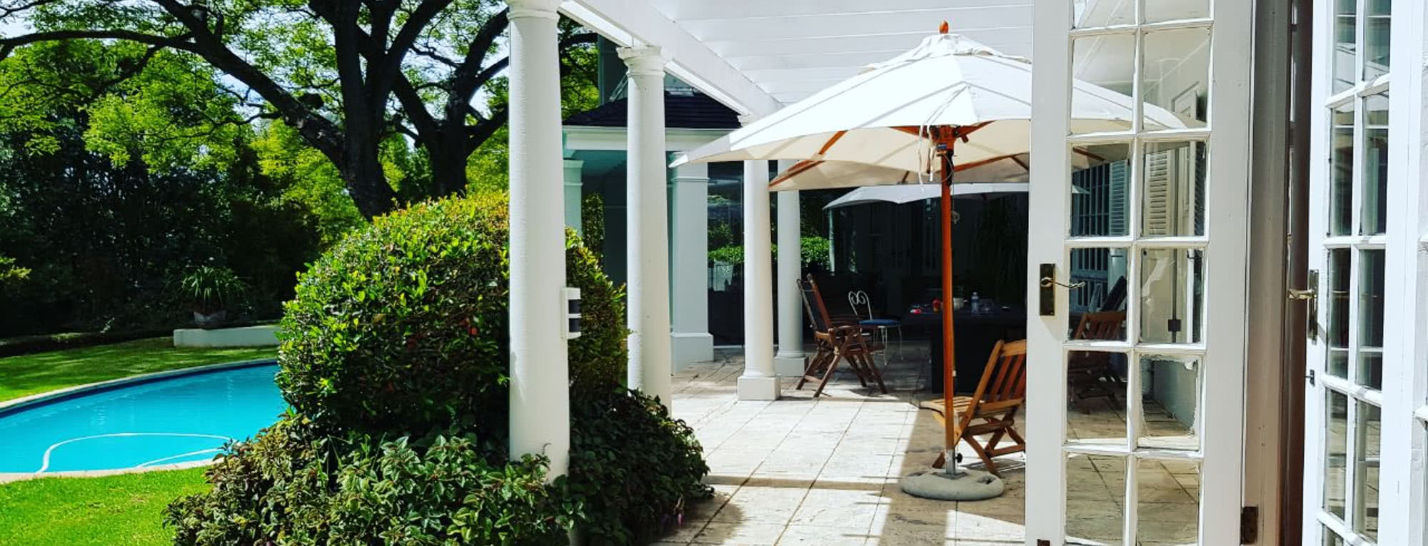 Drug Rehab and Alcohol Detox Center in Cape Town, South Africa - Back Area with Pool